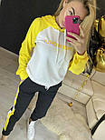 Повседневный костюм с лампасами с капюшоном: худи и штаны (в расцветках), фото 5