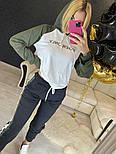 Повседневный костюм с лампасами с капюшоном: худи и штаны (в расцветках), фото 6