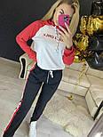 Повседневный костюм с лампасами с капюшоном: худи и штаны (в расцветках), фото 7