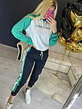 Повседневный костюм с лампасами с капюшоном: худи и штаны (в расцветках), фото 9