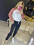Повседневный костюм с лампасами с капюшоном: худи и штаны (в расцветках), фото 10