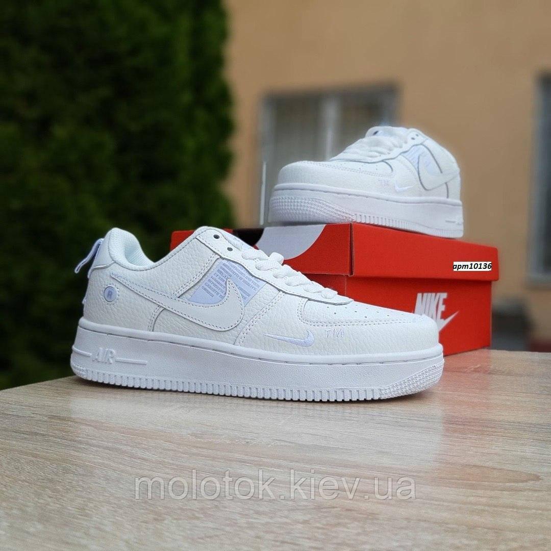 Мужские кроссовки в стиле Nike Air Force 1 LV8 белые на белой