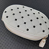 Бананка сумочка на пояс жіноча біла, фото 2