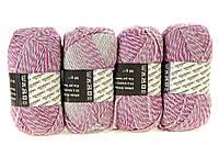 M7-110042, Нитки для вязания, 4 х 50 г, , сиреневый-светло серый