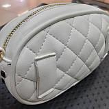 Бананка сумочка на пояс жіноча біла, фото 4