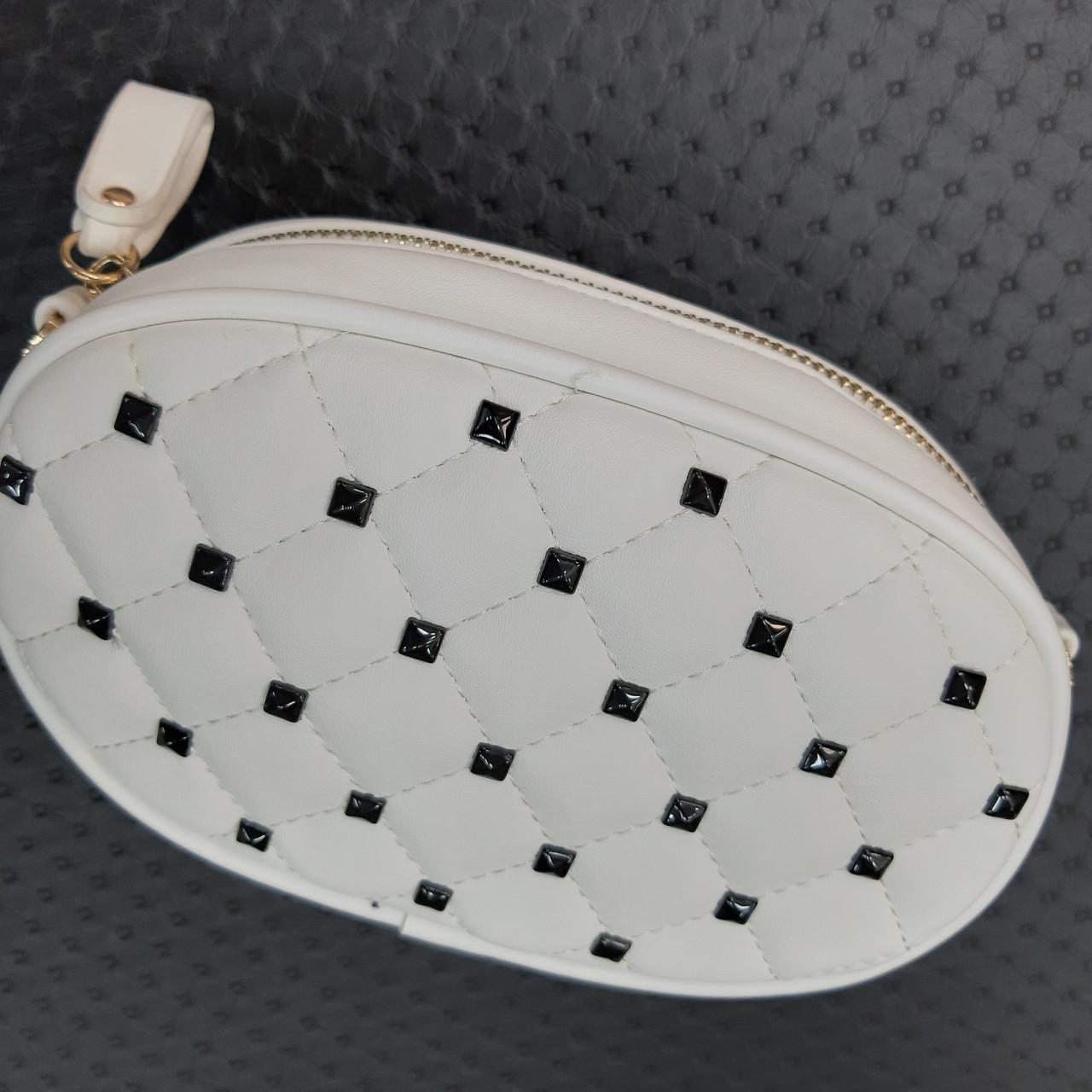 Бананка сумочка на пояс жіноча біла