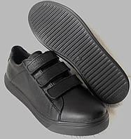 Mante Брендові шкіряні чорні жіночі туфлі на липучках кросівки сліпони кеди