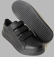 Mante Брендовые кожаные черные женские туфли на липучках кроссовки слипоны кеды