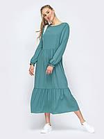 Синее платье свободного кроя  oversize 44 46 48 50 52