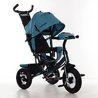 Велосипед-коляска детский трехколесный Turbo Trike M 3115HA-21L изумруд лен
