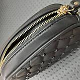 Бананка сумочка на пояс жіноча чорна, фото 4