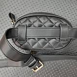 Бананка сумочка на пояс жіноча чорна, фото 5