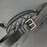 Бананка сумочка на пояс жіноча чорна, фото 8