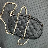 Бананка сумочка на пояс жіноча чорна, фото 3