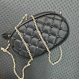 Бананка сумочка на пояс жіноча чорна, фото 9