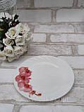 Тарілка закусочна із склокераміки декорована гілкою орхідеї, діаметр 18 см(продаж лише упаковками, 6шт/уп), фото 3