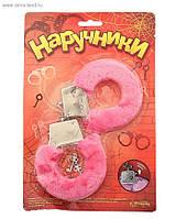 Наручники розовые плюшевые 329105. Эротические сувениры