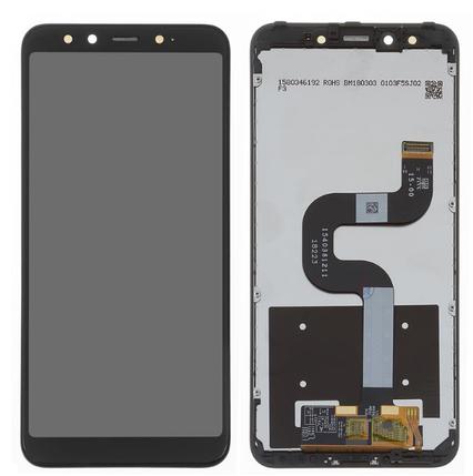 Дисплей (экран) для Xiaomi Mi A2 с сенсором (тачскрином) и рамкой черный, фото 2