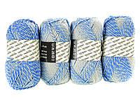 M7-440012, Нитки для вязания, 4 х 50 г, , голубой-белый