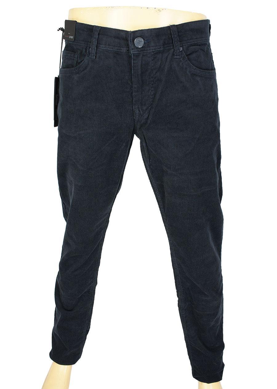 Чоловічі вельветові джинси  X-Foot 261-2504 / KDF # 3 темно-синього кольору