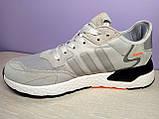 Мужские кроссовки в стиле адидас Nite Jogger Grey, фото 3