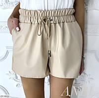 Женские кожаные шорты ,женские шорты на резинке