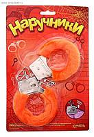 Плюшевые оранжевые наручники 329110. Эротические сувениры, фото 1