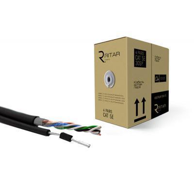 Кабель сетевой Ritar UTP 305м КНПт (4*2*0,50) [СCA] внешний, трос 7*0,4 (03499)