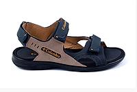 Мужские кожаные сандалии Columbia Track Late синие, фото 1
