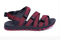 Мужские кожаные сандалии Nike Summer life red красные, фото 1