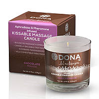 Массажная свеча DONA Kissable Massage Candle Chocolate Mousse (125 мл). Массажные масла и кремы