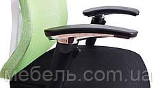 Кресло для врача Barsky Fly-04 Butterfly White/Green, сеточное кресло, белый / зеленый, фото 3