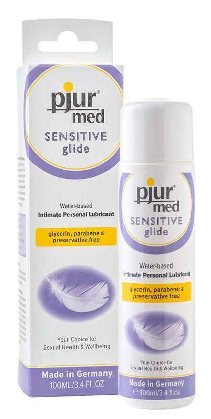 Лубрикант на водной основе pjur MED Sensitive glide 100 мл вагинальная для чувствительной кожи (Пьюр, Пджюр). Смазки на водной основе