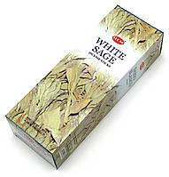 Аромапалочки Hem Белый шалфей, на угольной основе (White Sage) 20 шт.