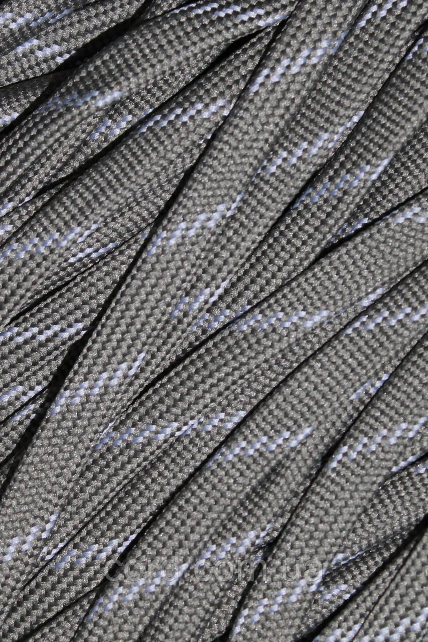 Шнур плоский чехол 10мм (100м) хаки + светло серый