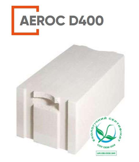 Газоблок AEROC (АЭРОК) D 400 (Обухов) 288х200х600 мм
