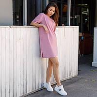 Платье-футболка женское розовое бренд ТУР модель Сарина (Sarina) размер  S, M, L L