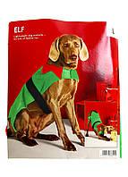 M21-300092, Зимняя одежда для собак Эльф, универсальное, зеленый-красный