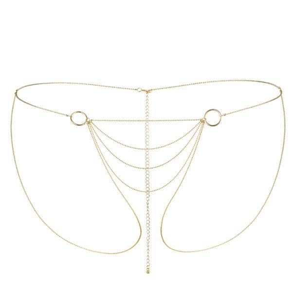 Украшение сексуальное на зону бикини Bijoux Indiscrets Magnifique Bikini Chain - Gold Позолота. Интимные украшения