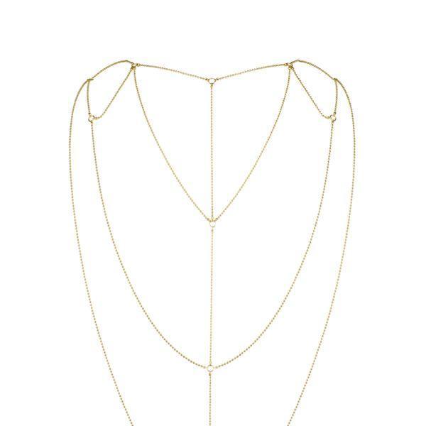 Украшение сексуальное для спины и декольте Bijoux Indiscrets Magnifique Back and Cleavage Chain - Gold Позолота. Интимные украшения