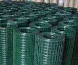 Сітка зварна в рулоні 50х50,цинк +ПВХ зелена, D 2.2 мм, H 1.5 м, L 10 м. пог, фото 2
