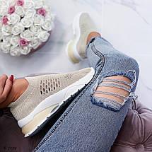 Женские кроссовки бежевого цвета, фото 2
