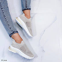 Женские кроссовки бежевого цвета, фото 3