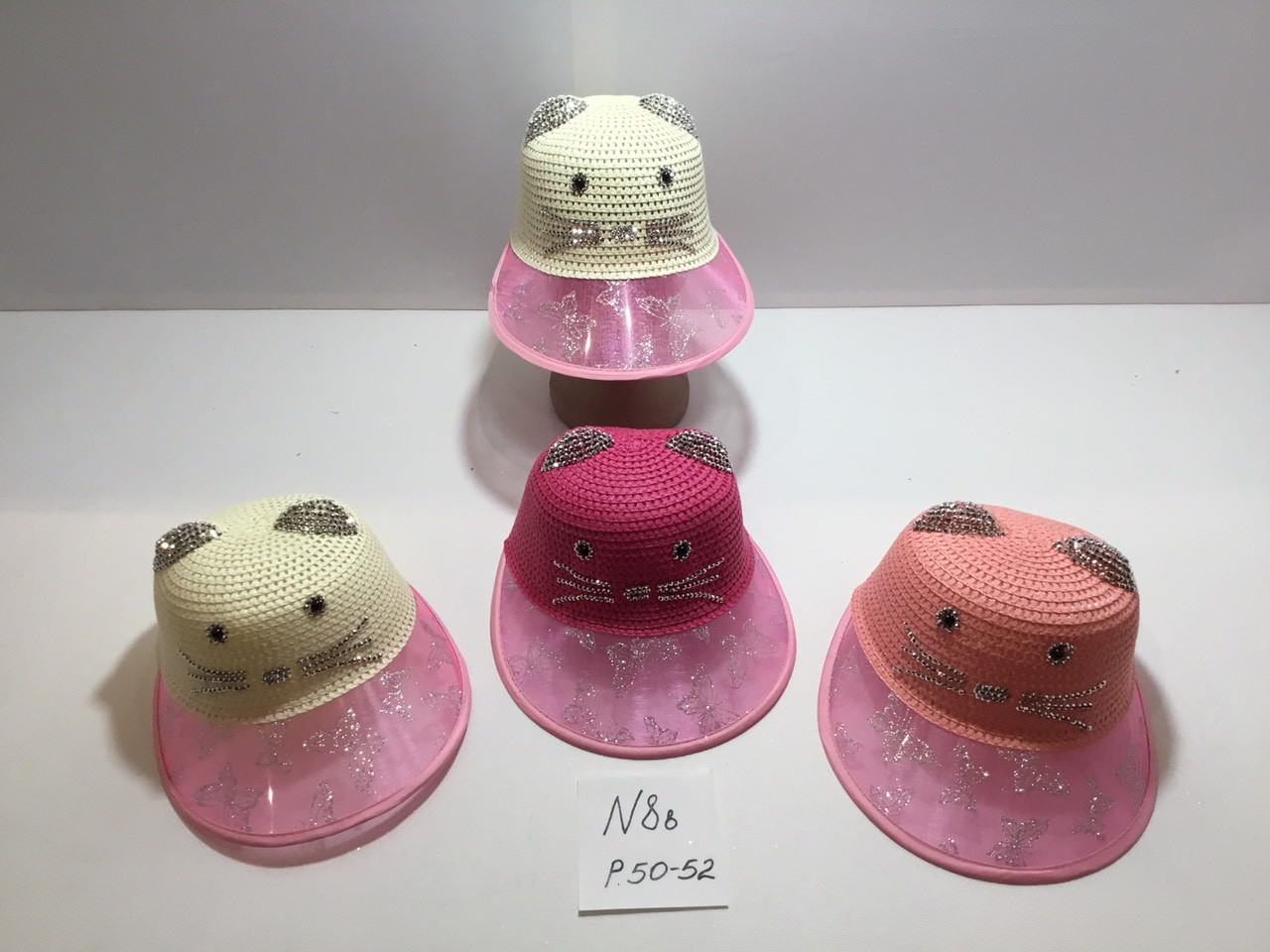 Шляпка для девочки с большим козырьком Размер 52 см