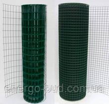 Сітка зварна в рулоні 50х50,цинк +ПВХ зелена, D 2.2 мм, H 2.0 м, L 10 м. пог