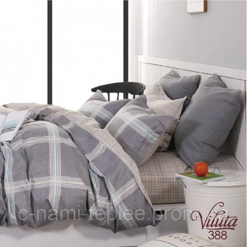 Постельное белье сатин Viluta (388) Двуспальный 220х200 см