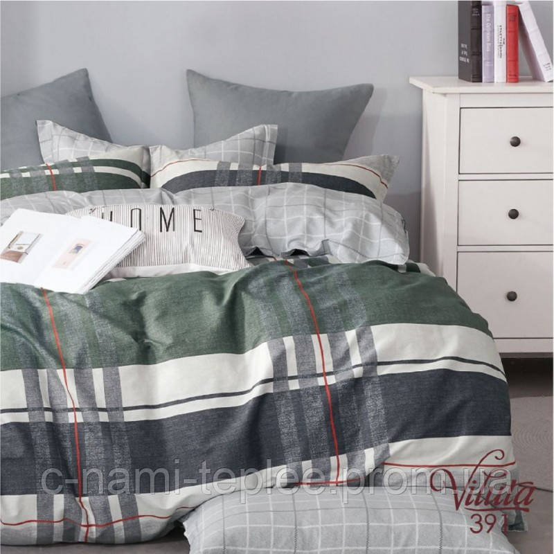 Постельное белье сатин Viluta (391) Двуспальный 220х200 см