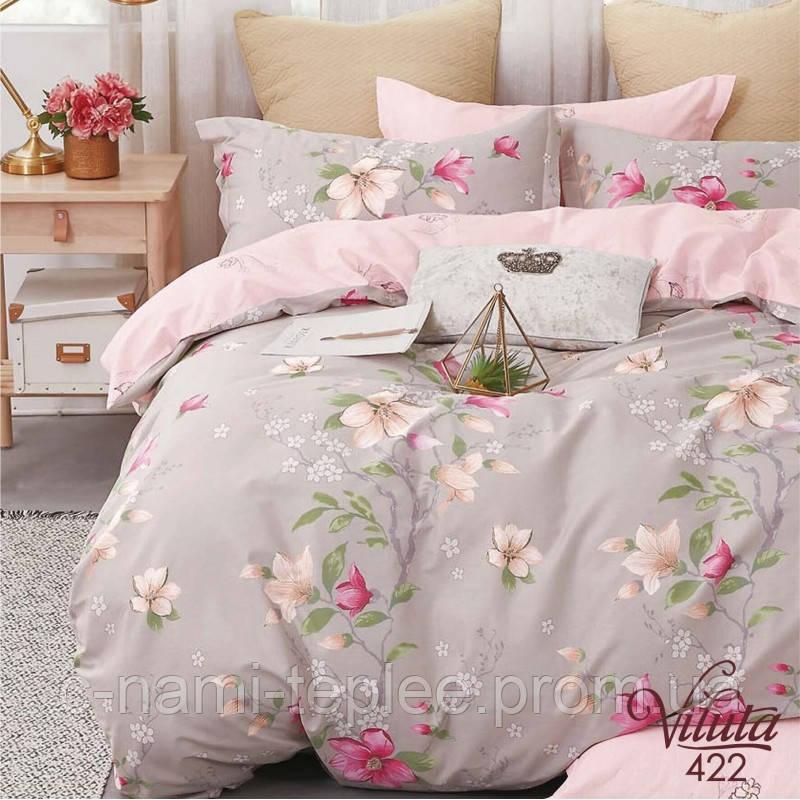 Постельное белье сатин Viluta (422) Двуспальный 220х200 см