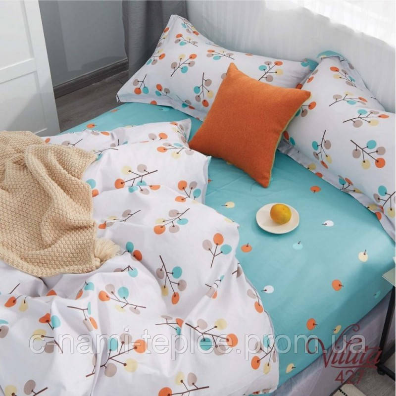 Постельное белье сатин Viluta (427) Двуспальный 220х200 см