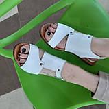 Босоніжки жіночі шкіряні білі, фото 5